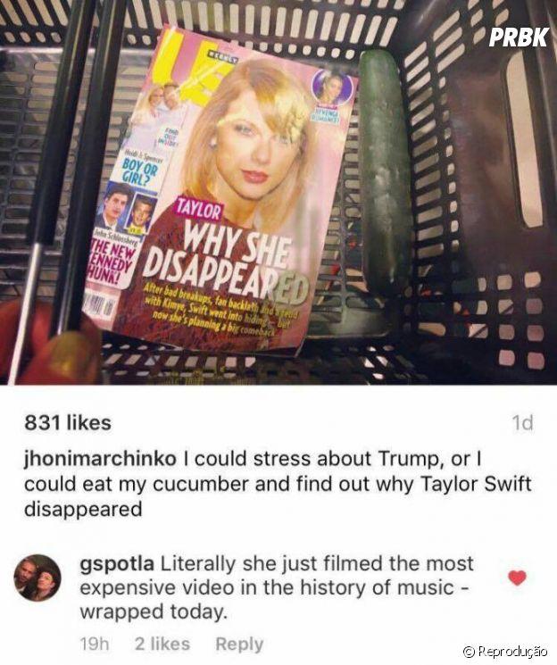 """Taylor Swift pode ter gravado o """"clipe mais caro da história"""", segundo ator"""