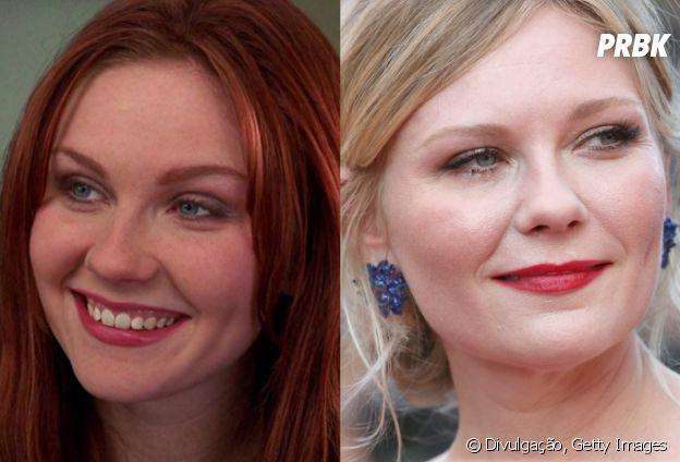 """Antes e depois do elenco do primeiro """"Homem Aranha"""": Kirsten Dunst"""