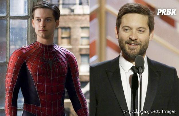 """Antes e depois do elenco do primeiro """"Homem Aranha"""": Tobey Maguire"""