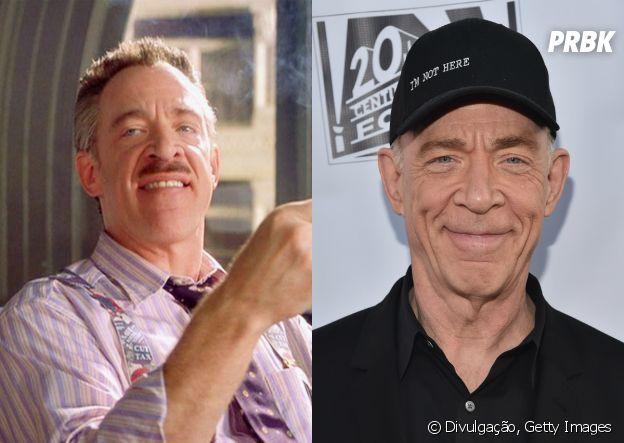 """Antes e depois do elenco do primeiro """"Homem Aranha"""": J.K. Simmons"""