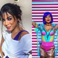 """Anitta grava clipe de """"Na Batida"""" com direito a look colorido, peruca e Palácio"""
