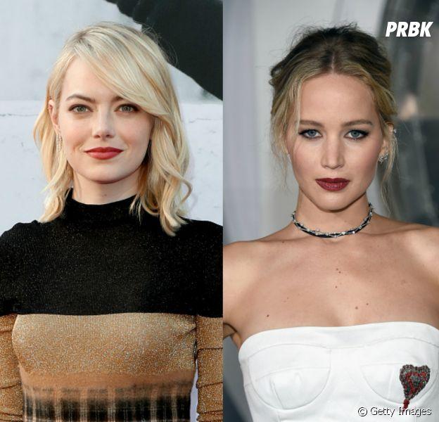 Por uma diferença de 2 milhões de doláres, Emma Stone passa Jennifer Lawrence como atriz mais bem paga do mundo