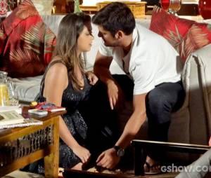 """Na trama de """"Em Família"""", Bárbara (Polliana Aleixo) e André (Bruno Gissoni) demoraram para engatar o relacionamento"""