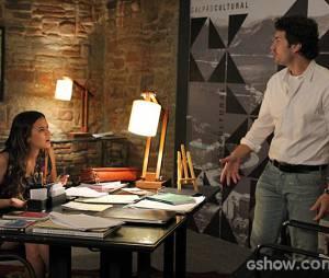 """Laerte (Gabriel Braga Nunes) e Luiza (Bruna Marquezine) brigaram muito mas acabam se casando na novela """"Em Família"""""""