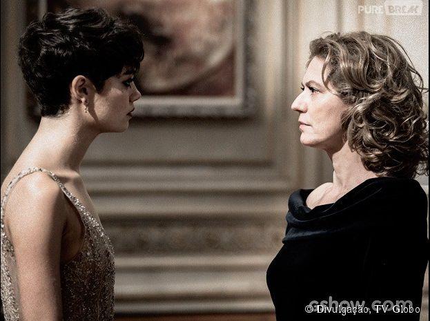 """Duda (Sophie Charlotte) confronta Angela (Patrícia Pillar) em """"O Rebu"""""""