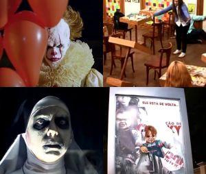 """De """"Invocação do Mal 2"""" a """"IT - A Coisa"""", veja as pegadinhas mais aterrorizantes e divertidas do """"Programa SIlvio Santos"""""""