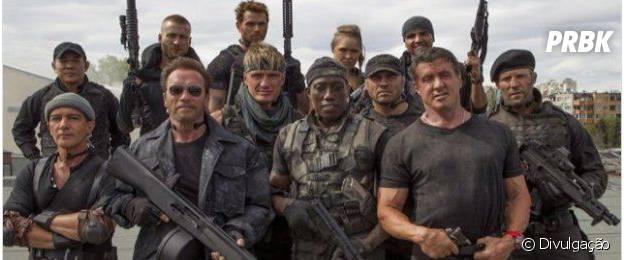 """""""Os Mercenários"""" traz elenco de elite dos filmes de ação"""