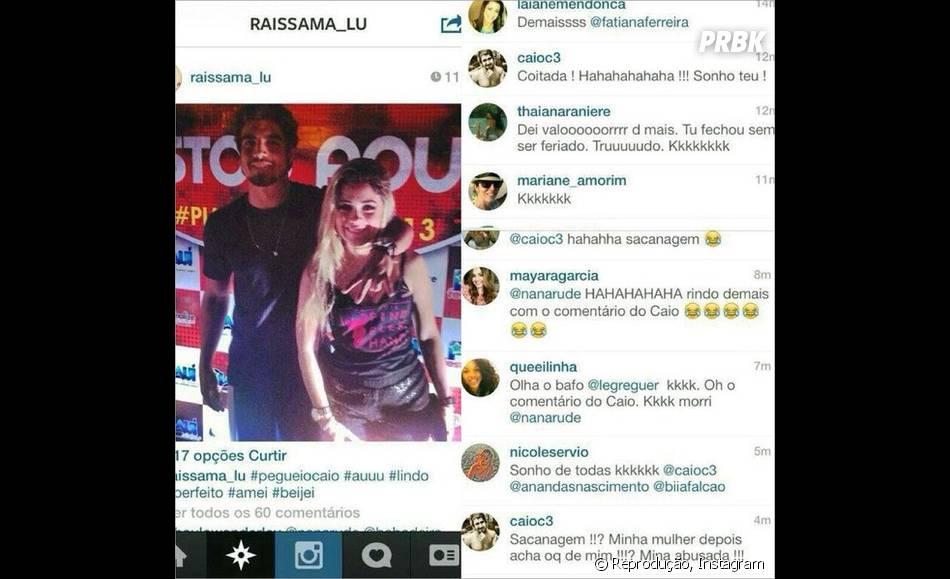 """Pelo Instagram, Caio Castro desmente que teria ficado com a fã: """" Coitada! Hahaahaha Sonho teu!"""""""