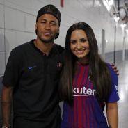 """Neymar Jr. comenta foto de Demi Lovato e fãs shippam casal: """"Namora com ela"""""""
