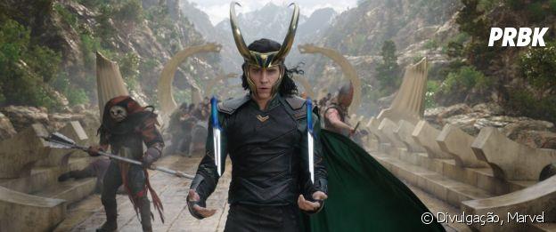 """Em """"Thor: Ragnarok"""", Loki (Tom Hiddleston) tem uma ótima interação com Thor (Chris Hemsworth)"""