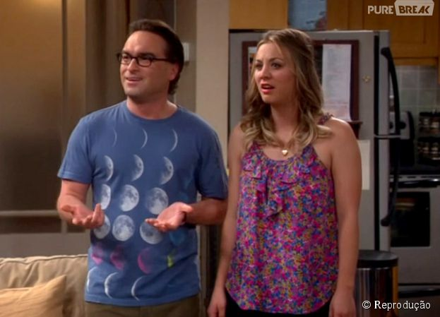 """Em """"The Big Bang Theory"""", Penny (Kaley Cuoco) e Leonard (Johnny Galecki) vão brigar por causa do novo emprego da loira"""