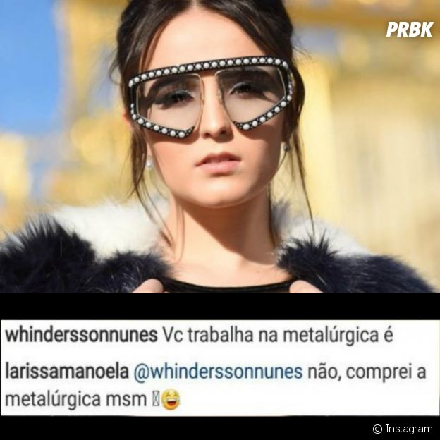 Larissa Manoela posa com óculos de grife e é zoada por youtuber Whindersson Nunes