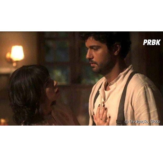 """Em """"Tempo de Amar"""", Lucinda (Andreia Horta) é desmascarada por Inácio (Bruno Cabrerizo)!"""