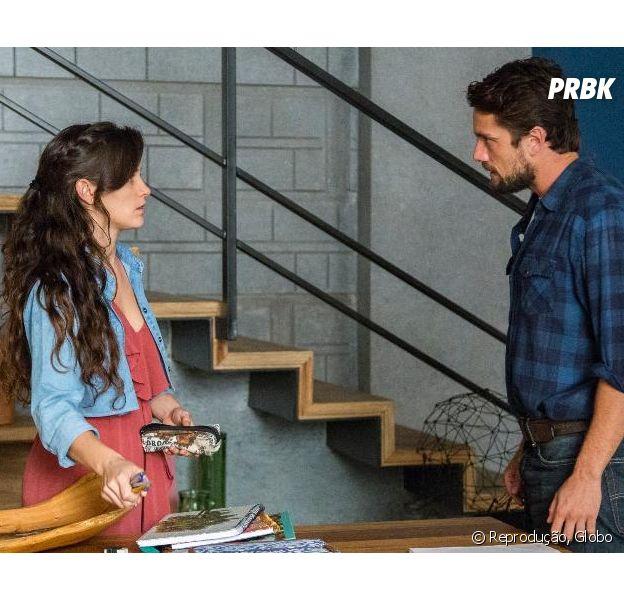"""Em """"O Outro Lado do Paraíso"""", Renato (Rafael Cardoso) consegue perdão de Clara (Bianca Bin)"""