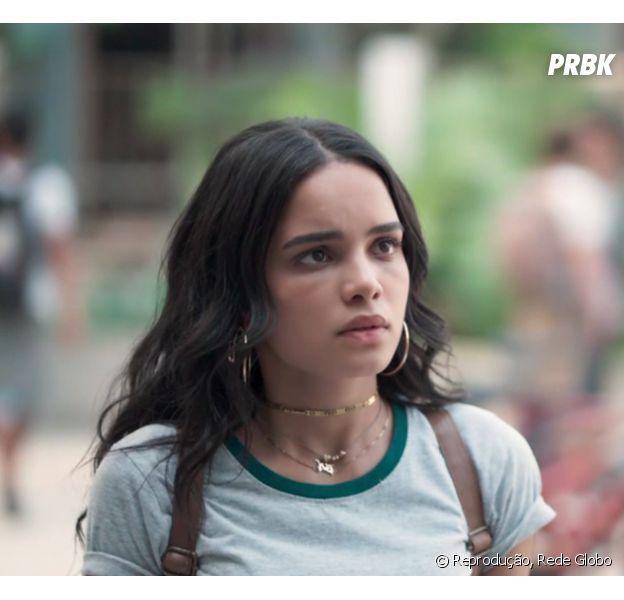 """Em """"Malhação"""", K2 (Carol Macedo) é humilhada depois que Tato (Matheus Abreu) descobre seu golpe da barriga"""