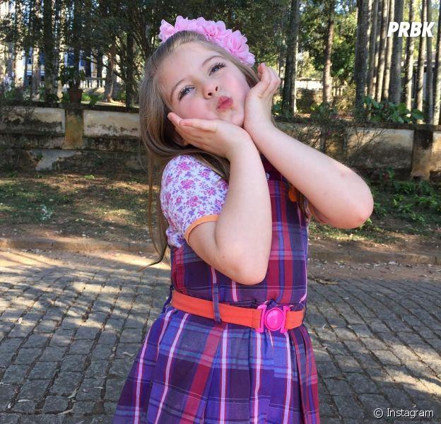 """Lorena Queiroz, a Dulce Maria de """"Carinha de Anjo"""", faz aniversário de 7 anos!"""
