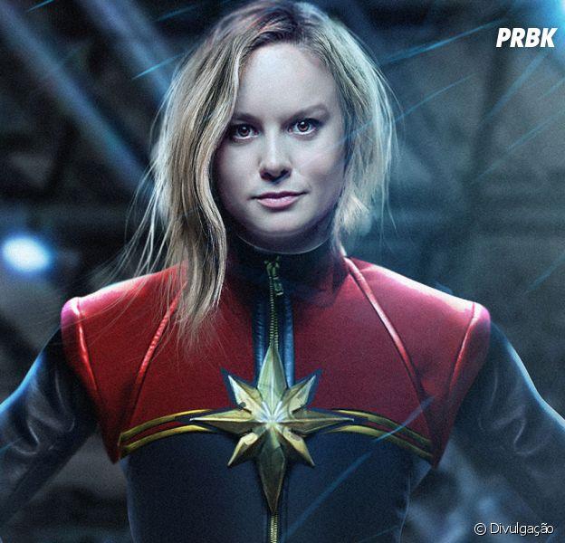 """De """"Capitã Marvel"""", fã flagra Brie Larson vestida de heroína pela primeira vez!"""