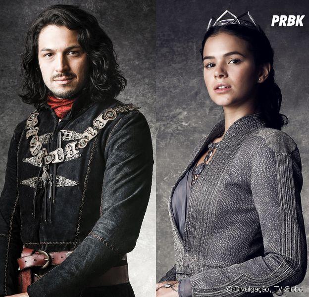 """Em """"Deus Salve o Rei"""", Afonso (Romulo Estrela) é libertado da prisão por Catarina (Bruna Marquezine)"""