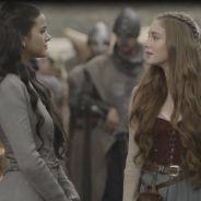 """Novela """"Deus Salve o Rei"""": Catarina (Bruna Marquezine) provoca Amália sobre ajuda a Afonso"""