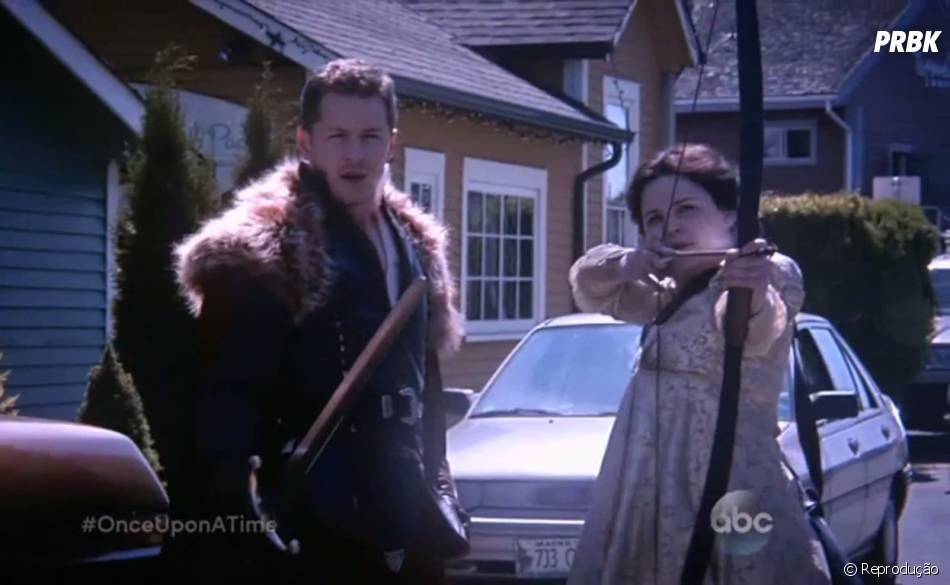 """Charming (Josh Dallas) e Snow (Ginnifer Goodwin) se preparam para o pior em """"Once Upon a Time"""""""