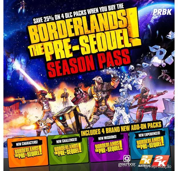 """Detalhes sore o Season Pass de """"Borderlands: The Pre-Sequel"""""""