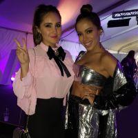 Anitta e Dulce Maria, ex-RBD, aparecem novamente juntinhas em nova foto. Confira!