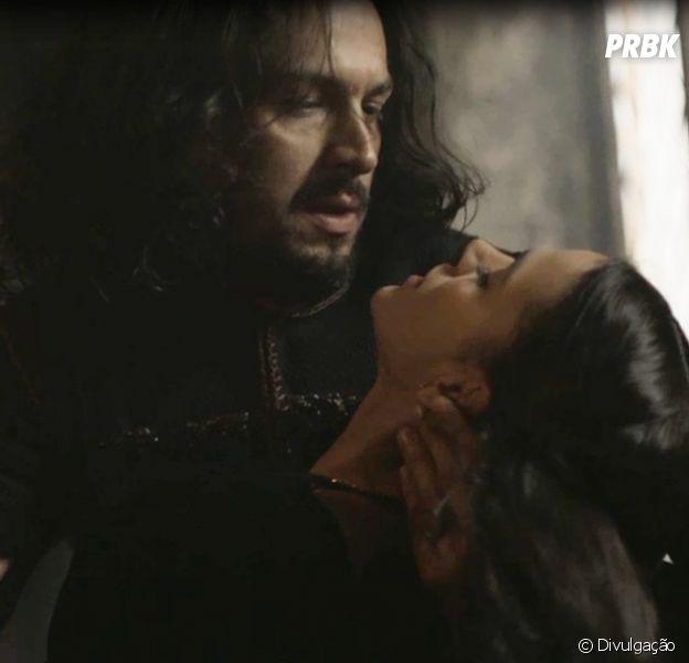 """Em """"Deus Salve o Rei"""", Afonso (Romulo Estrela) é pressionado a se casar com Catarina (Bruna Marquezine)"""
