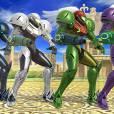 """As cores da armadura de Samus em """"Super Smash Bros"""""""