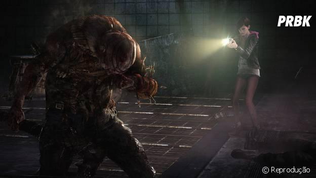 """Moira Burton contra o inimigo Afflicted em """"Resident Evil: Revelations 2"""""""