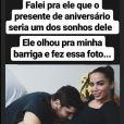 Anitta usou seu Instagram stories para desejar feliz aniversário para o marido nesta sexta-feita (27)