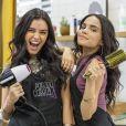 """Talita Younan e Carol Macedo, ex-estrelas de """"Malhação"""", revelam como receberam a notícia de que estariam juntas de novo em""""O Tempo Não Para"""""""