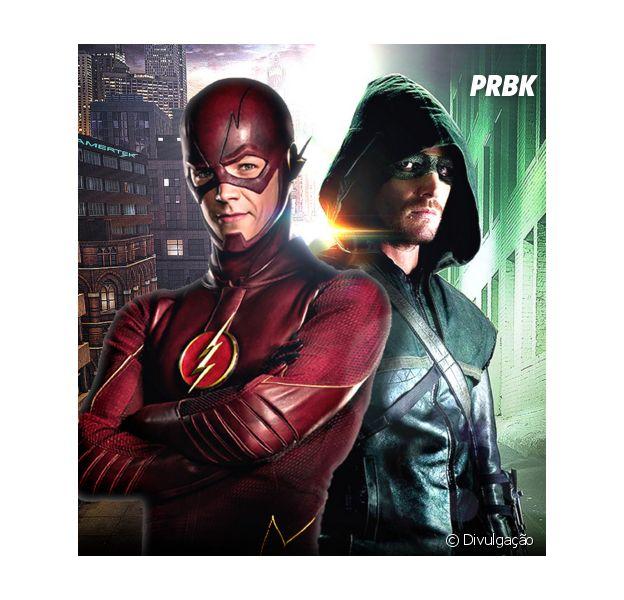 """De """"Arrow"""", Stephen Amell fala que gosta de fazer crossover com """"The Flash"""" por causa de Grant Gustin!"""