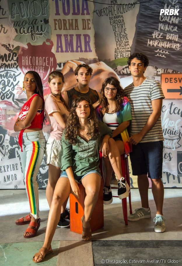 """De """"Malhação - Toda Forma de Amar"""":Rita (Alanis Guillen), Raissa (Dora de Assis), Thiago (Danilo Maia), Jaqueline (Gabz), Guga (Pedro Alves) e Anjinha (Caroline Dallarosa) são os novos protagonistas"""