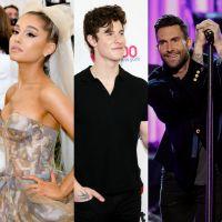 """Rolou um """"Carpool Karaoke"""" especial de Natal com Ariana Grande, Shawn Mendes e mais uma galera"""