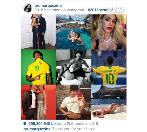 """2018 Best Nine"" da Bruna Marquezine"