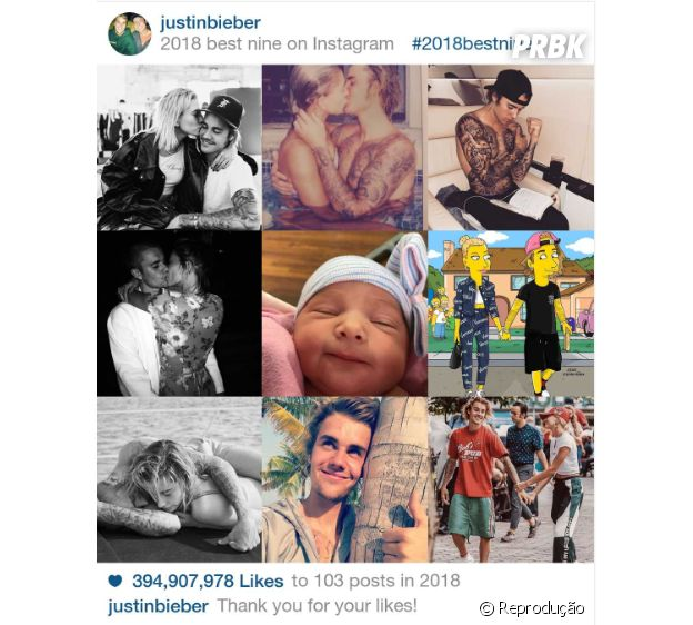 """2018 Best Nine"" do Justin Bieber"