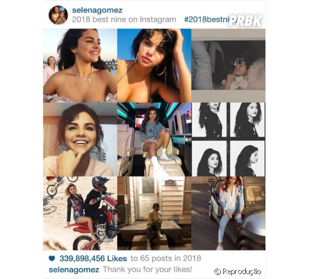 """2018 Best Nine"" da Selena Gomez"