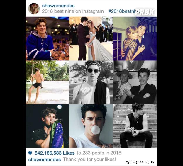 """2018 Best Nine"" do Shawn Mendes"