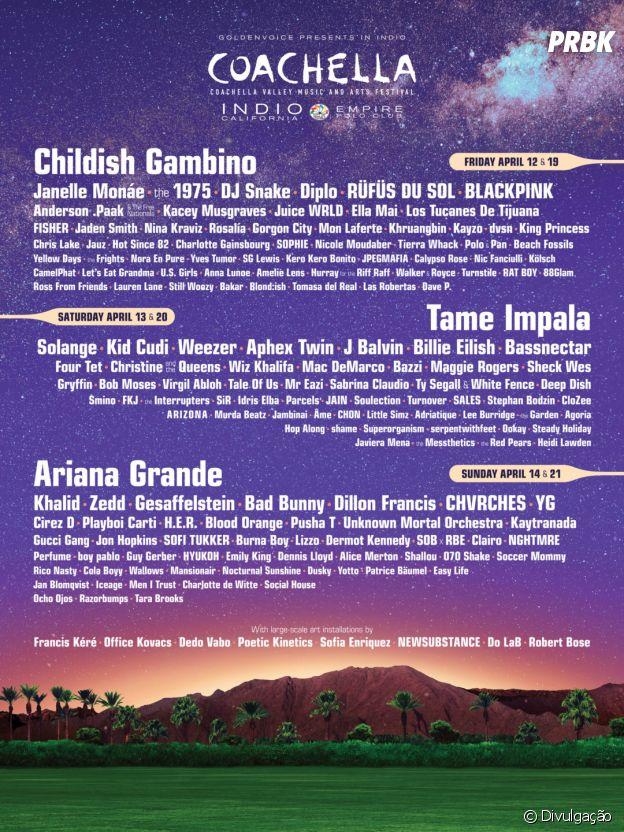 Além de Ariana Grande e BLACKPINK, Diplo e muitos artistas formam o line-up do Coachella 2019