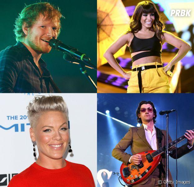 Anitta, Arctic Monkeys, Ed Sheeran e Pink são apenas alguns artistas que farão shows no Brasil esse ano