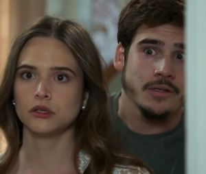 """Em """"O Tempo Não Para"""", Marocas (Juliana Paiva) e sua família são mantidos em quarentena"""