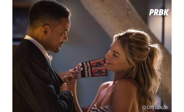 """Will Smith e Margot Robbie vivem casal detrapaceiros em """"Focus"""""""