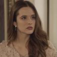 """Em """"O Tempo Não Para"""":Marocas (Juliana Paiva) fica na mira da raiva de Lúcio (João Baldasserini)"""