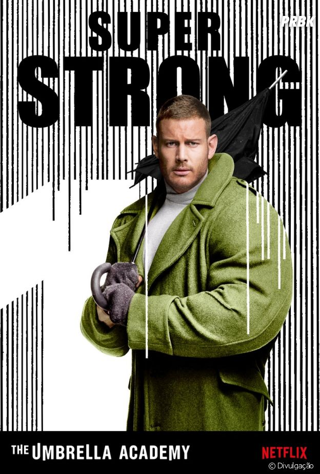 "Luther Hargreeves (Tom Hopper) é o líder da família em ""The Umbrella Academy"""