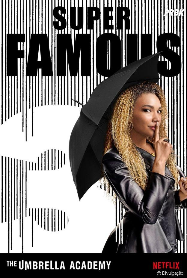 """De """"The Umbrella Academy"""": Allison (Emmy Raver-Lampman) tem o poder de transformar mentiras em realidade"""