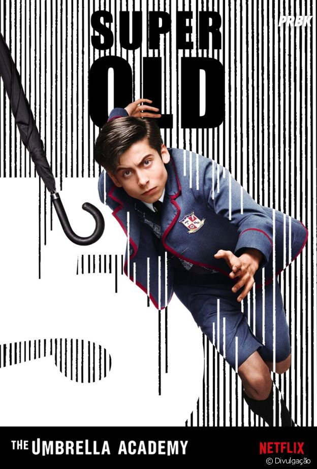"The Boy (Aidan Gallagher) é capaz de viajar no tempo em ""The Umbrella Academy"""