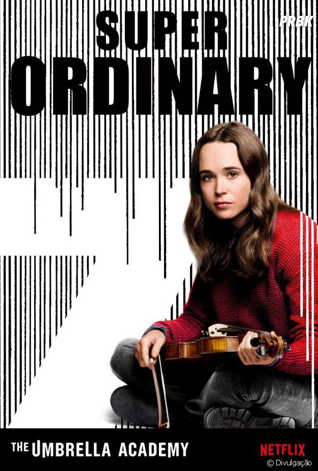"""Ellen Page dará vida à 7 em """"The Umbrella Academy"""", uma violinista que aparentemente não tem poderes"""
