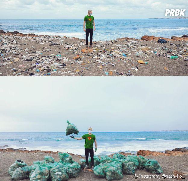 O #TrashChallenge está fazendo muita gente melhorar praias e rios ao redor do mundo
