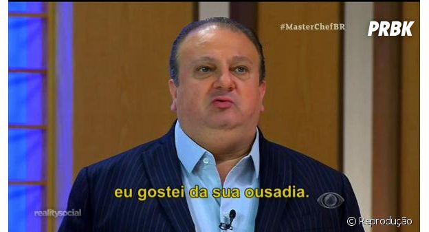 """""""MasterChef Brasil"""": Érick Jacquin viraliza com meme """"eu gostei da sua ousadia"""""""