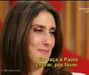 """""""MasterChef Brasil"""": Paola Carosella viraliza com meme """"não faça a Paola chorar, por favor"""""""